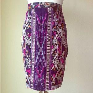 Very Unique Purple Tribal Print Skirt